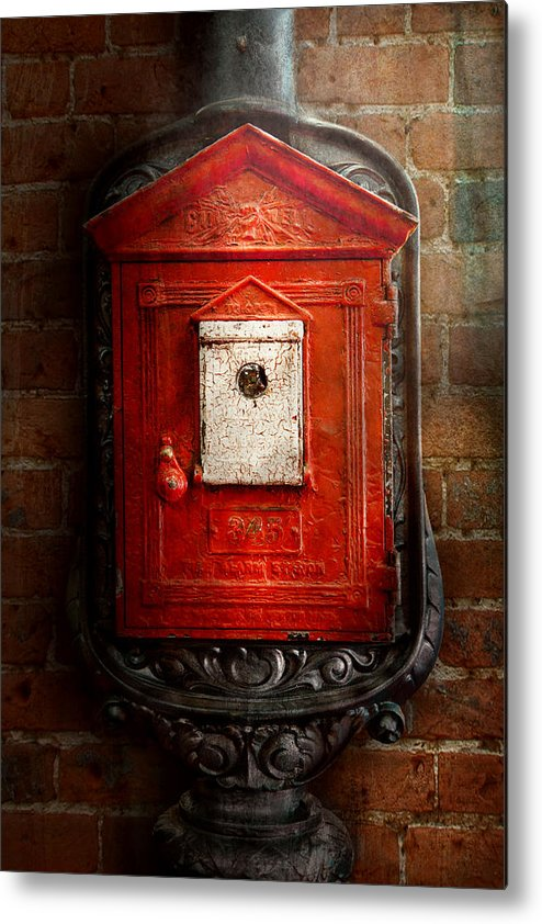 Fireman Metal Print featuring the photograph Fireman - The Fire Box by Mike Savad