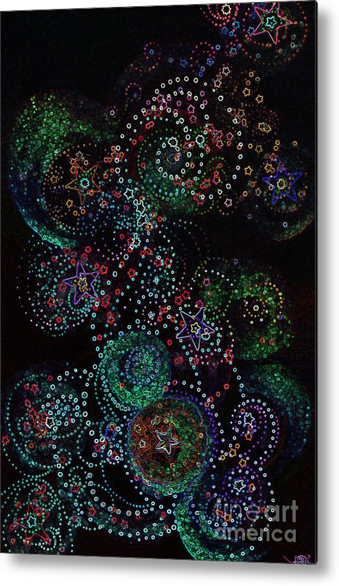 Firststarart Metal Print featuring the mixed media Fireworks Celebration By Jrr by First Star Art