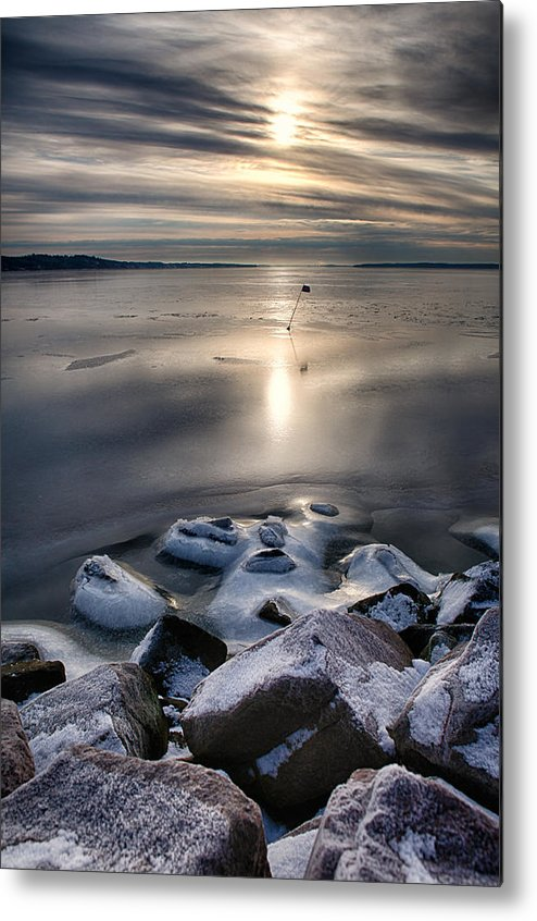 Water Metal Print featuring the photograph Flag by Kent Mathiesen