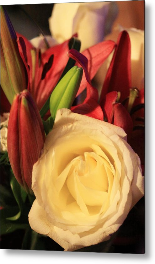 Floral Metal Print featuring the photograph Floral Beauty by Linda Phelps