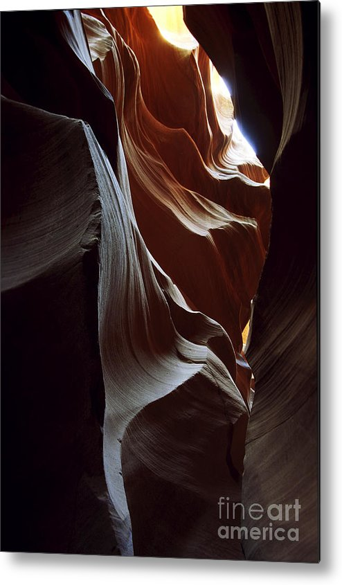 Antelope Canyon Metal Print featuring the photograph Follow The Light by Kathy McClure