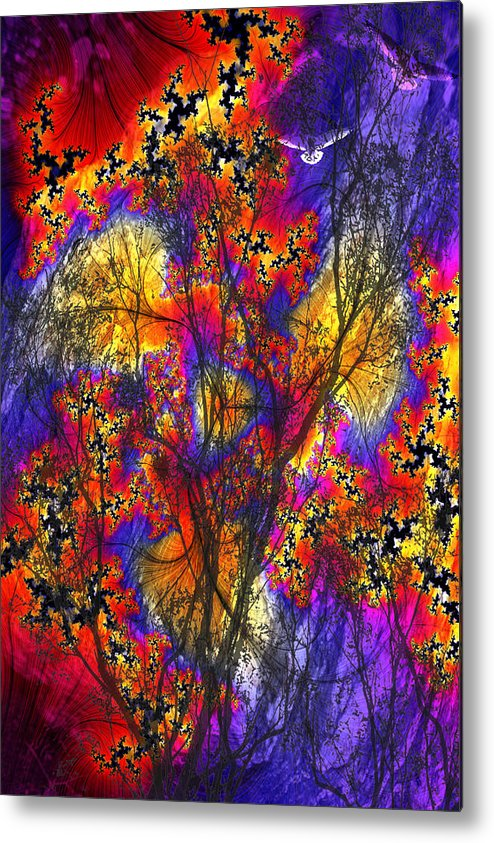 Forest Fire Metal Print featuring the digital art Forest Fire by Lisa Yount