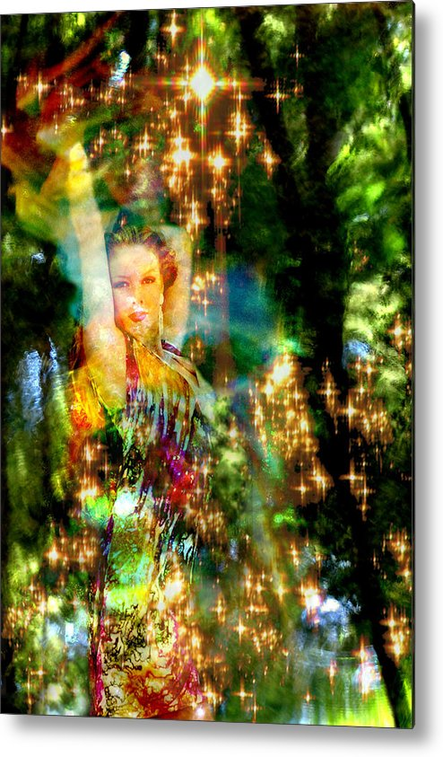 Forest Metal Print featuring the digital art Forest Goddess 4 by Lisa Yount