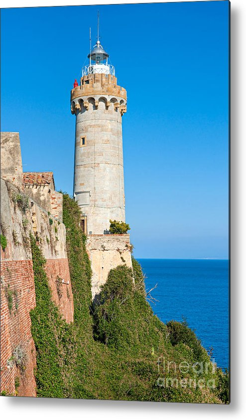House Metal Print featuring the photograph Forte Stella Lighthouse - Portoferraio - Elba Island by Luciano Mortula