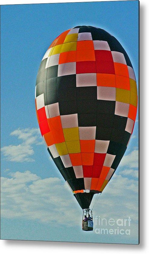 Hot Air Balloons Metal Print featuring the photograph Full Of Hot Air. No.1 by RL Clough