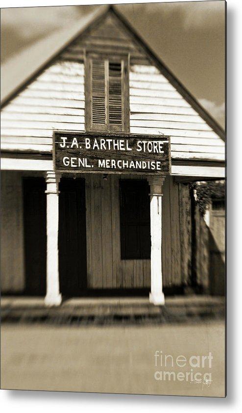 Store Metal Print featuring the photograph Genl Merchandise by Scott Pellegrin