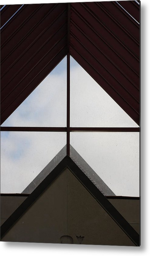 Abstract Metal Print featuring the photograph Geometric by Marcia Lee Jones