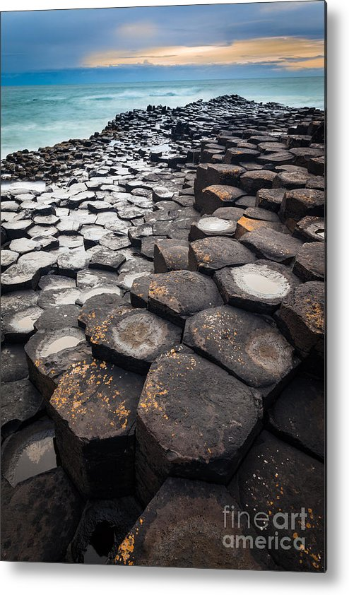 Europe Metal Print featuring the photograph Giant's Causeway Hexagons by Inge Johnsson