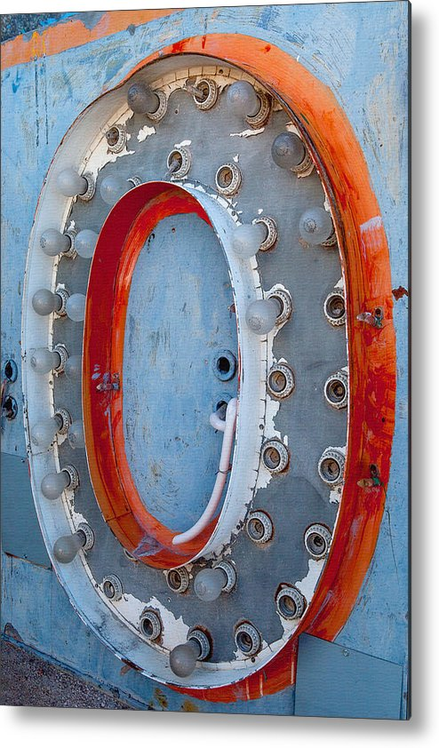 Letter Metal Print featuring the photograph Give Me An O by Art Block Collections