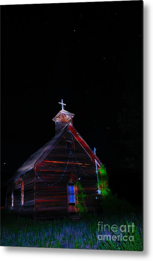 Phil Dionne Photography Metal Print featuring the photograph Glowing Church I by Phil Dionne