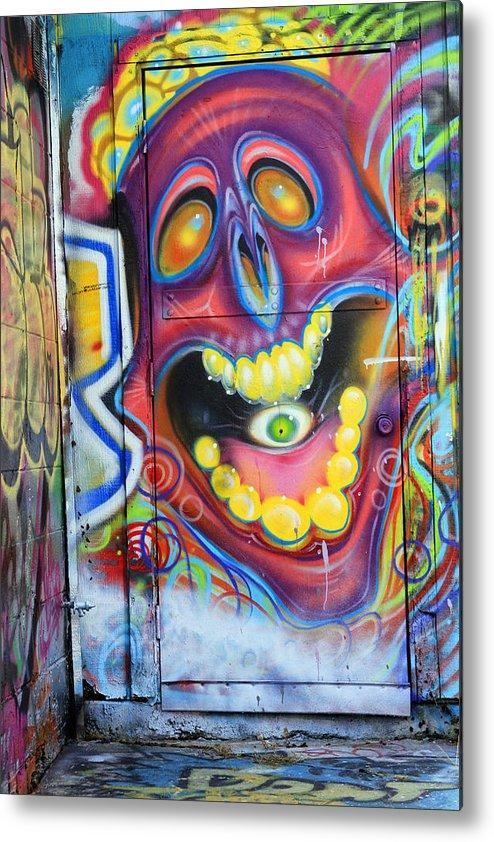 Graffiti Metal Print featuring the photograph Graffiti 2 by Tera Bunney