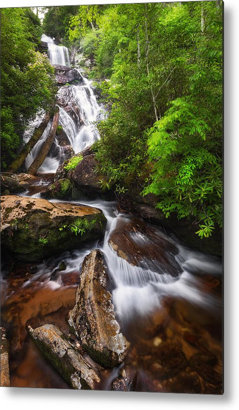 Holcomb Metal Print featuring the photograph Holcomb Falls by Alex Mironyuk