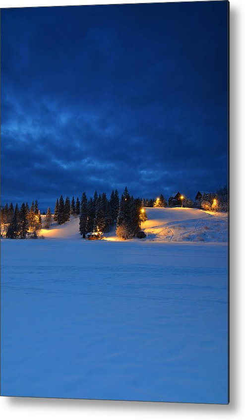 Norway Metal Print featuring the photograph Holmenkollen Blue by Aaron Bedell