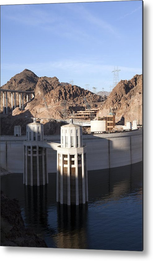 Arizona Metal Print featuring the photograph Hoover Dam by Karen Cowled