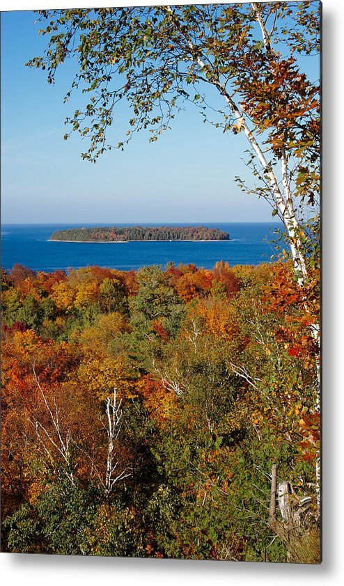 door County Metal Print featuring the photograph Horseshoe Island by Chuck De La Rosa