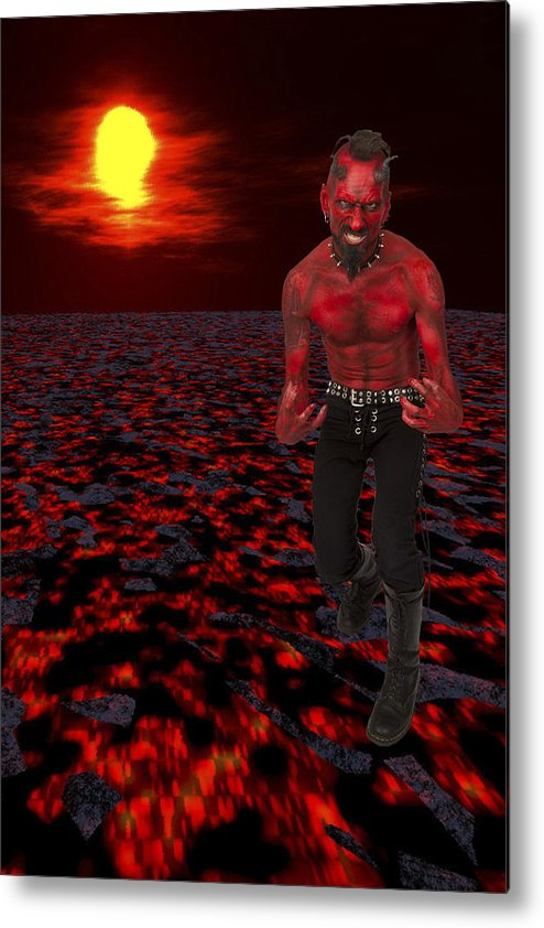 Hot Metal Print featuring the photograph Hot Devil by Dawn Call