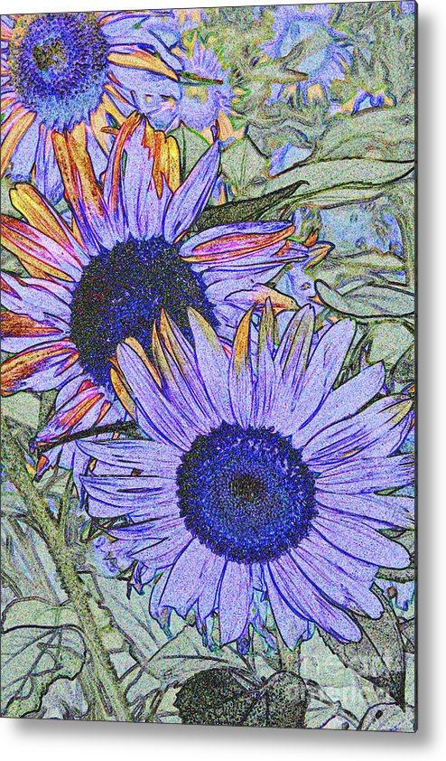 Sunflower Metal Print featuring the photograph Impressionism Sunflowers by Christiane Schulze Art And Photography