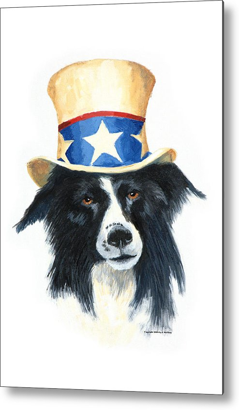 Dog Metal Print featuring the painting In Dog We Trust by Jerry McElroy