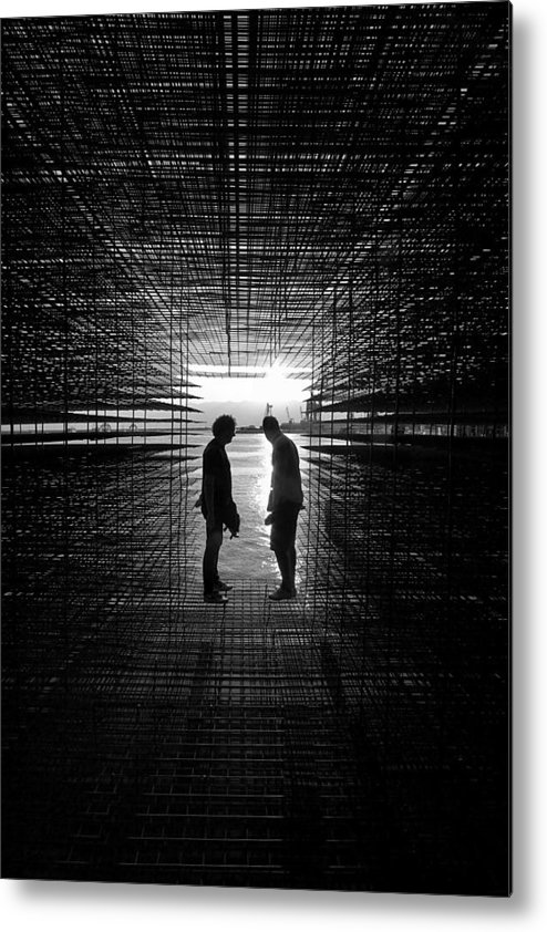 People Metal Print featuring the photograph In The Pavilion by Aleksandar Tomulic