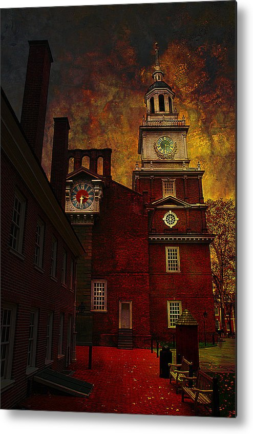 Philadelphia Metal Print featuring the photograph Independence Hall Philadelphia Let Freedom Ring by Jeff Burgess