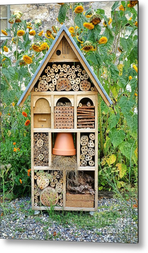 Craftsman Metal Print featuring the photograph Insect Hotel by Olivier Le Queinec
