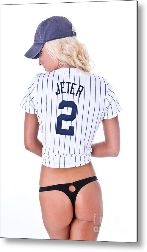 2 Metal Print featuring the photograph Jeter Fan by Jt PhotoDesign