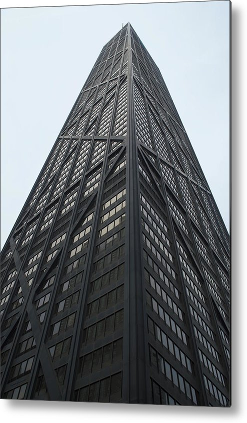 Chicago Metal Print featuring the photograph John Hancock South And West Facades by Thomas Woolworth