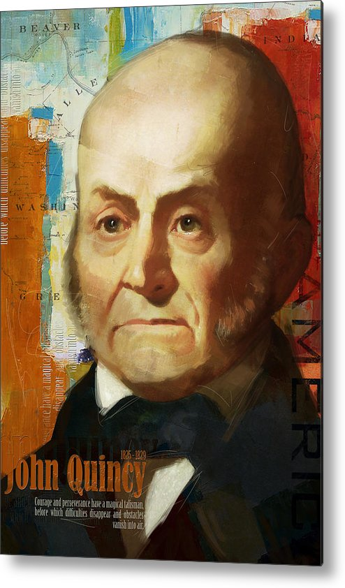 John Quincy Metal Print featuring the painting John Quincy Adams by Corporate Art Task Force