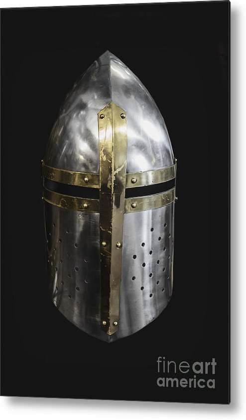 Helmet Metal Print featuring the photograph Knight In Shining Armor by Margie Hurwich