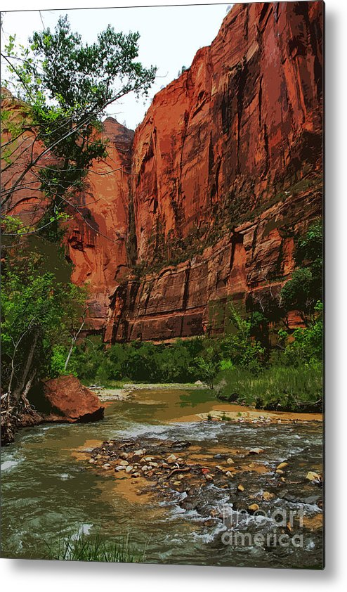 Zion Metal Print featuring the photograph Late Light by Joanne Riske