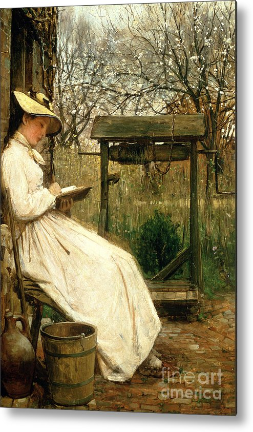 Read Metal Print featuring the painting Leisure Hours by John Robertson Reid