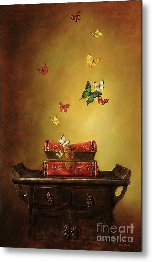 Tibetan Metal Print featuring the painting Liberation - Tibetan Dream by Lori McNee
