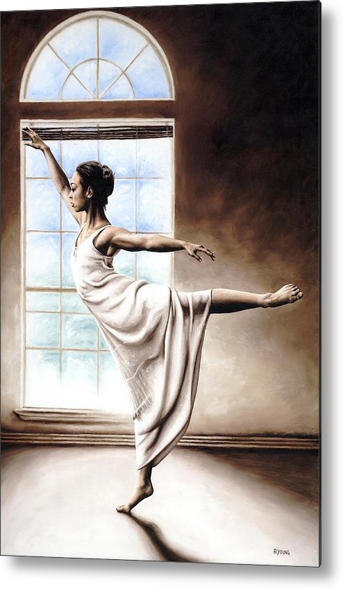 Dance Metal Print featuring the painting Light Elegance by Richard Young