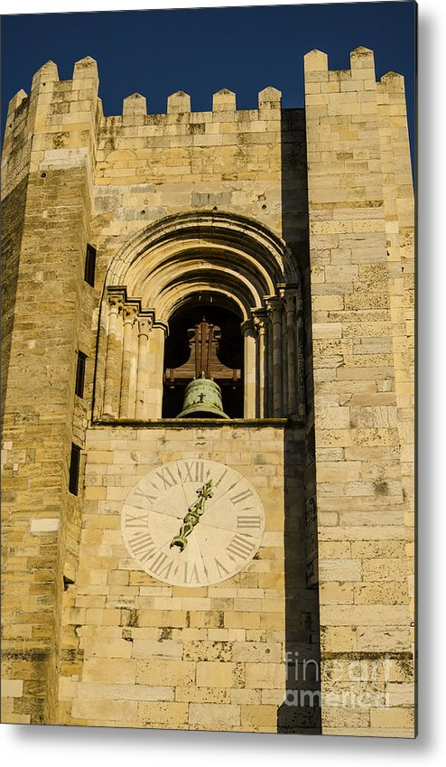 Lisbon Metal Print featuring the photograph Lisbon Cathedral Bell Tower by Deborah Smolinske