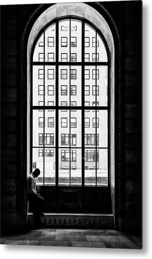 Window Metal Print featuring the photograph Lonely Man by Massimo Della Latta