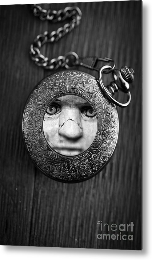 Creepy Metal Print featuring the photograph Look Behind You by Edward Fielding