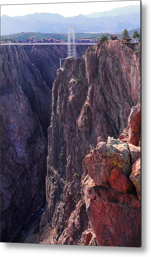 Royal Gorge Metal Print featuring the photograph Lovers Leap by Mike Flynn