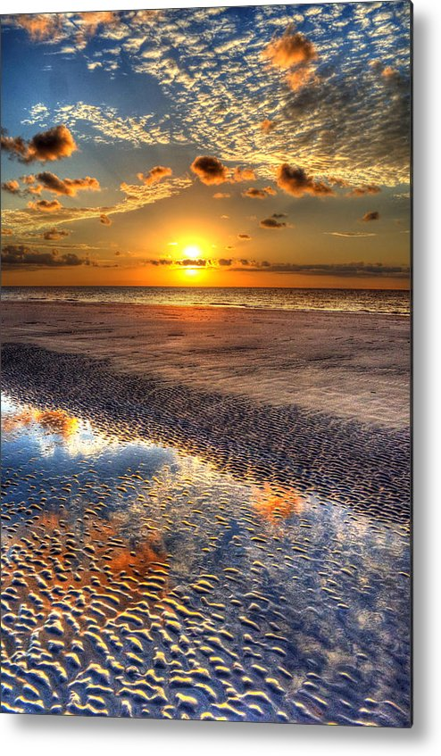 Jekyll Island Metal Print featuring the photograph Low Tide Sunrise On Jekyll Island by Greg and Chrystal Mimbs
