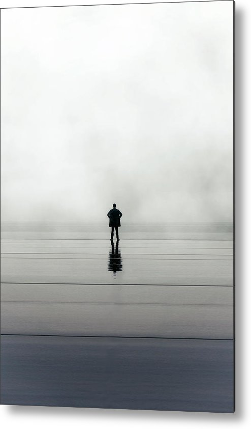 Young Metal Print featuring the photograph Man Alone by Joana Kruse