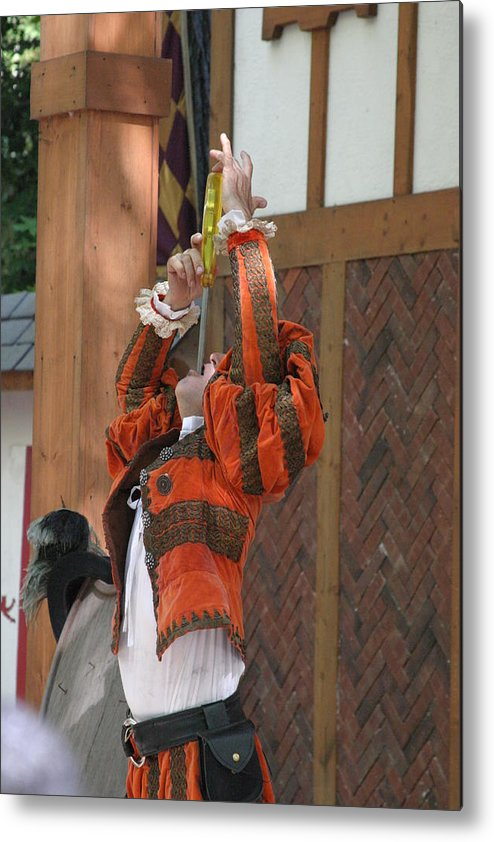Maryland Metal Print featuring the photograph Maryland Renaissance Festival - Johnny Fox Sword Swallower - 121245 by DC Photographer
