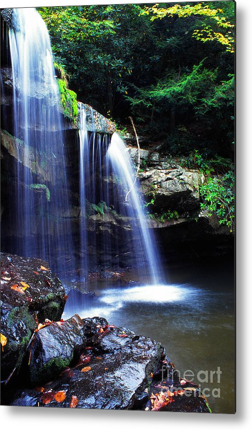 Mccoy Falls Metal Print featuring the photograph Mccoy Falls Birch River by Thomas R Fletcher