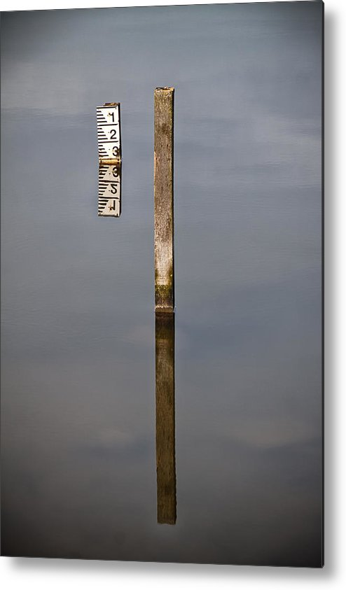 Stick Metal Print featuring the photograph Measuring Stick by Nigel Jones
