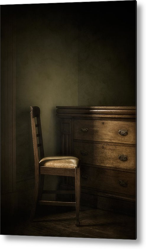 Chair Metal Print featuring the photograph Memories by Amy Weiss