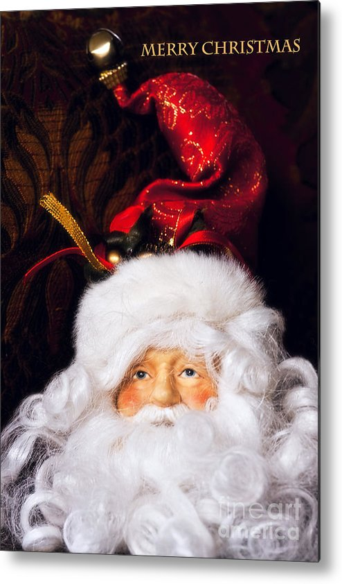 Santa Clause Metal Print featuring the photograph Merry Christmas by Joan Bertucci