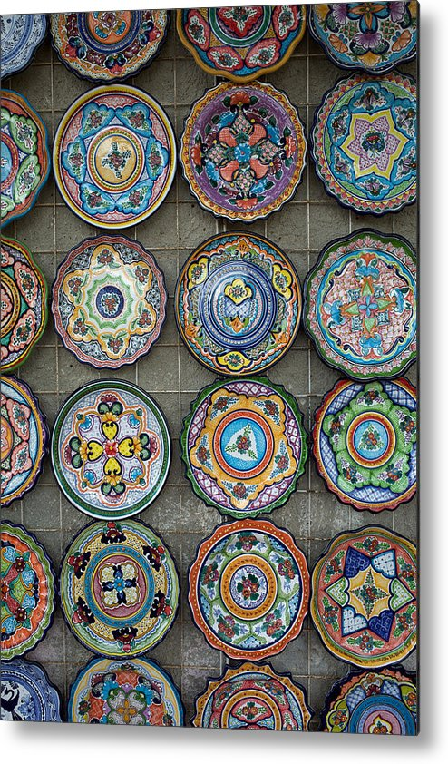 Mexican Plates Metal Print featuring the photograph Mexican Plates by Eugene Kogan