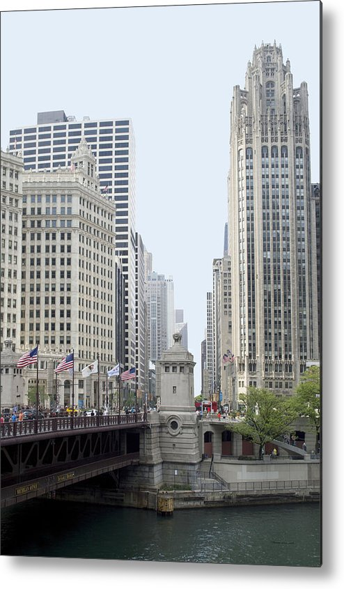 Chicago Metal Print featuring the photograph Michigan Ave Dusable Bridge by Thomas Woolworth