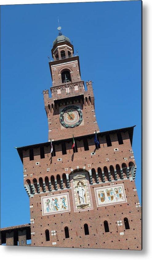Castello Metal Print featuring the photograph Milan, Italy. Castello Sforzesco by Ken Welsh