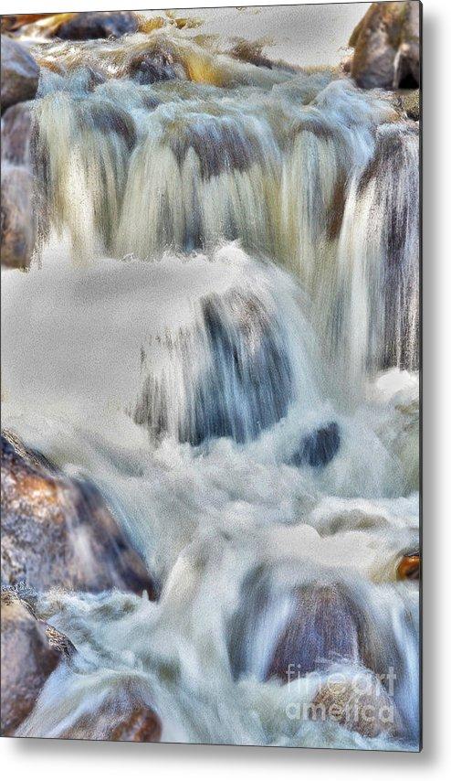 Milky Water Fall Metal Print featuring the digital art Milky Waterfall by Mae Wertz