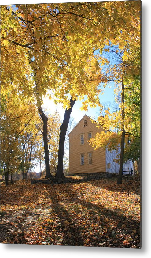 Concord Metal Print featuring the photograph Minuteman National Historic Park Brooks House by John Burk