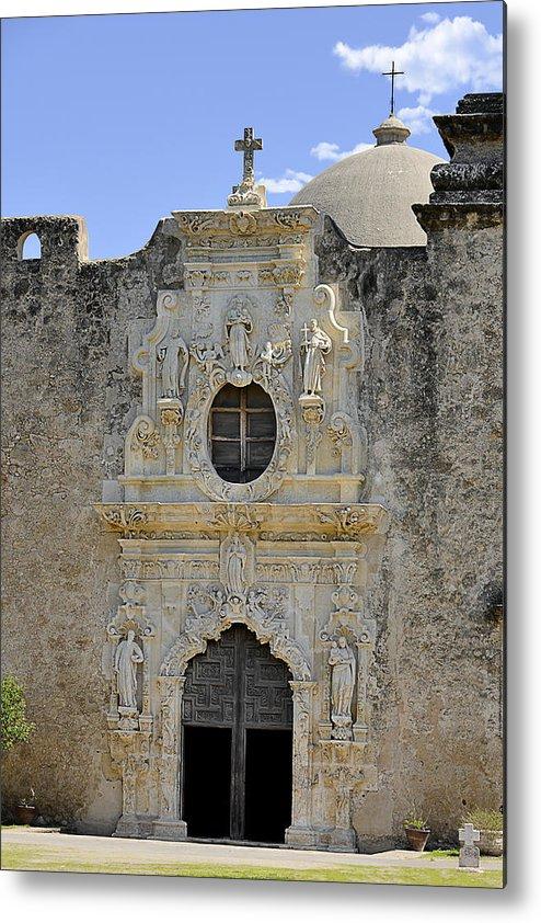 Mission San Jose Y San Miguel De Aguayo Metal Print featuring the photograph Mission San Jose - San Antonio Tx by Christine Till